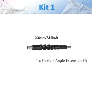 105 Degree Right Angle Drill Attachment and Flexible Angle Extension Bit Kit