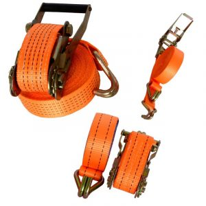 1Set High-Quality Ratchet Tie Down Straps with Double Hook