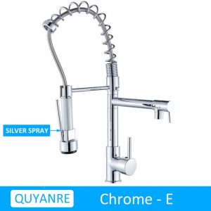 Blackend Spring Kitchen Faucet Pull out