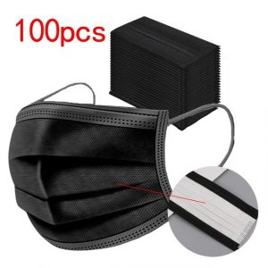 100pc Black Disposable Face Mask High quality
