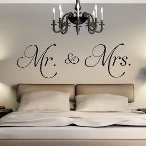 Mr Mrs Wall Stickers For Bedroom