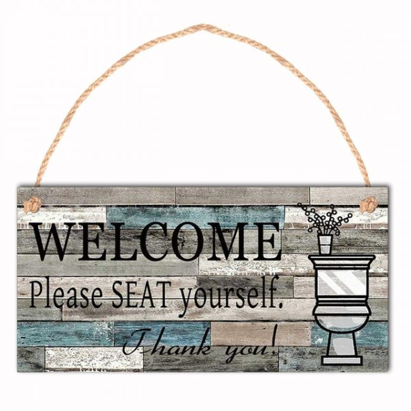 1Pcs Wooden Hanging Sign Chalkboard Plaques