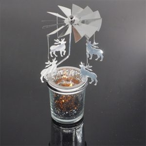 1pc Rotary Spinning Tea light Candle