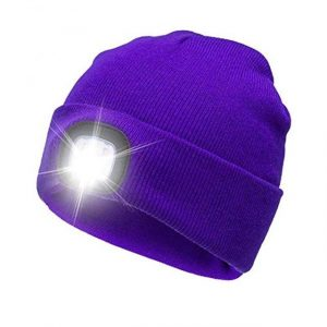 4 LED Lighted Cap Warm Beanies Hands-Free Battery
