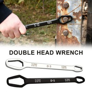 8 22mm Double Head Universal Spanner Ratchet Wrench Key Set