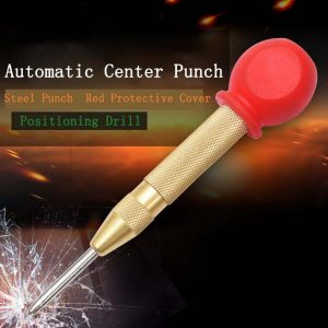 Automatic Center Pin Punch Spring Loaded Marking Starting Holes Tool