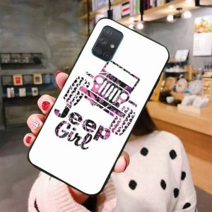 Jeep Girl Soft Rubber Phone Cover For Samsung Galaxy A30 A40 A50 A70 A80 A71 A51