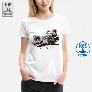 Men's Shirt: Knitted Casual Beer Jeeps Offroad