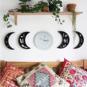 Nordic Style Wooden Decorative Mirror Moon Phase