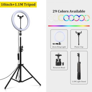 Photo Lights 26cm/10in Circle Ring Light Dimmable Luces LED