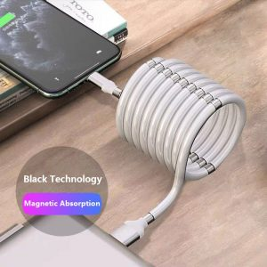 Super Calla Self Winding USB Magnetic Absorption Magic Fast Charging Data Cable
