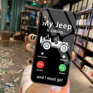 car Jeeps Logo Phone Cover Tempered Glass For iPhone 11 Pro XR XS MAX 8 X 7 6S 6 Plus SE