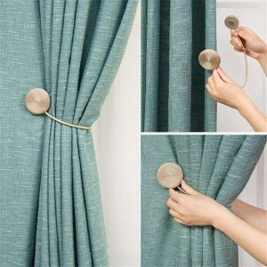 Magnetic Flannel Round Curtain Tiebacks