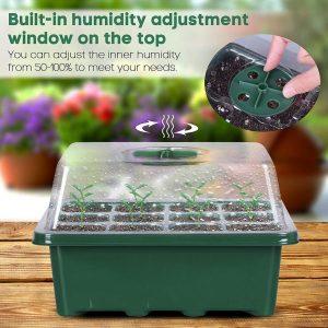 12 Holes Plastic Nursery Pots for Plant Germination Tray