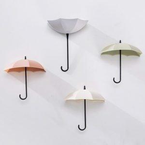 3Pcs Umbrella Shaped Creative Key Hanger