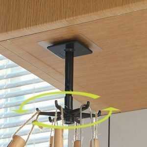 360° Rotating Kitchen Accessories Hook Wall Mounted