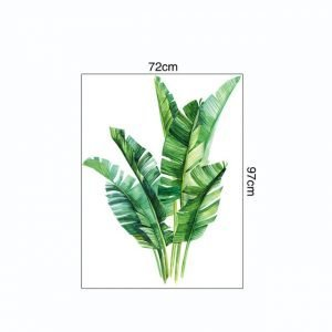 Tropical Plants Leaves Wall Stickers