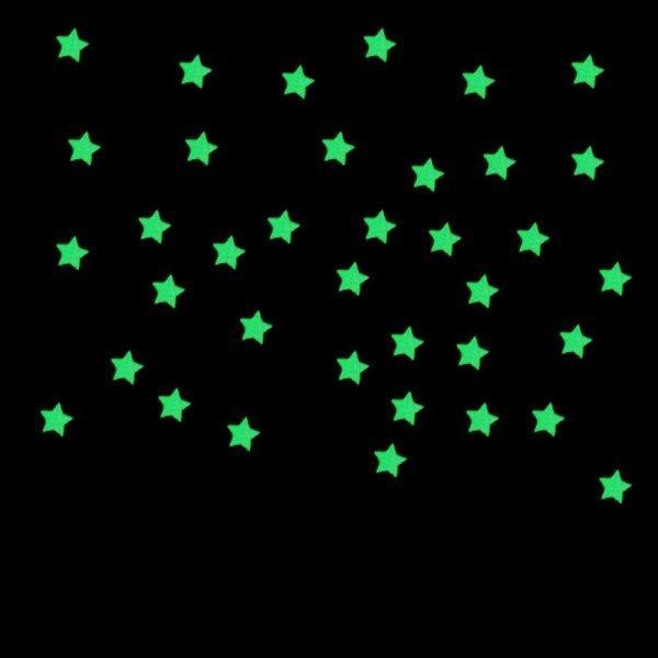 100pcs Glow In The Dark Stars Wall Stickers