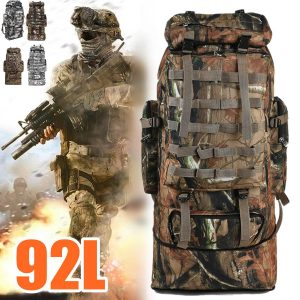 Men Backpack Army Military Tactical 92L