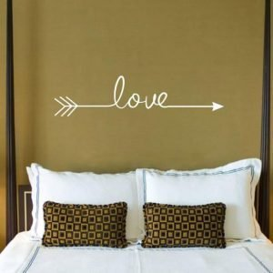 Multiple Colour Love Arrow Decals Wall Sticker