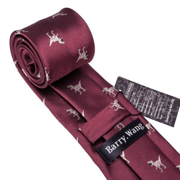 2018 New Arrival Men's Ties Dinosaur Pattern Red Mens Wedding Neckties 8.5cm Necktie Business Silk Ties For Men Tie FA 5060 Men's Ties & Handkerchiefs 