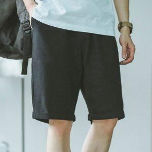 2020 summer hot shorts men's solid color linen shorts men's summer loose breathable casual shorts beach shorts large|Casual Shorts|
