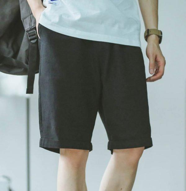 2020 summer hot shorts men's solid color linen shorts men's summer loose breathable casual shorts beach shorts large Casual Shorts 