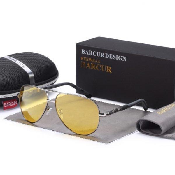 BARCUR Men sunglasses Polarized UV400 Protection Driving Sun Glasses Women Male Oculos de sol Men's Sunglasses 