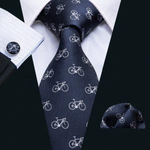 Men Ties Designer Fashion Bicycle Pattern Neck Tie Wedding Business 8.5CM Silk Necktie Jacquard Woven Tie For Men Cravat FA 5066|Men's Ties & Handkerchiefs|